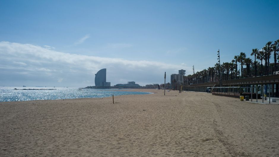 Stadtstand von Barcelona, Spanien.