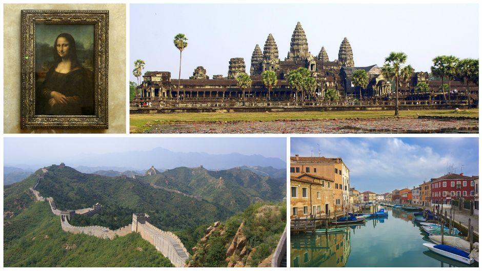 Mona Lisa, Angkor Wat, die große Mauer oder Venedig sind Sehenswürdigkeiten, die enttäuschen.