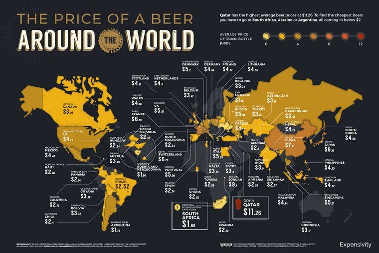 Der Bier-Index 2021 zeigt Reisenden, wo sie in der Welt günstig das kühle Getränk bekommen.