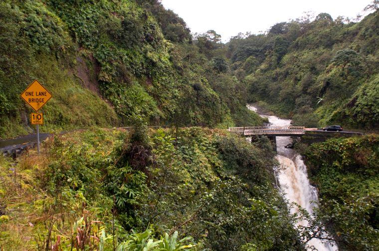 Einfach berauschend: Wasserfälle entlang der Road to Hana.