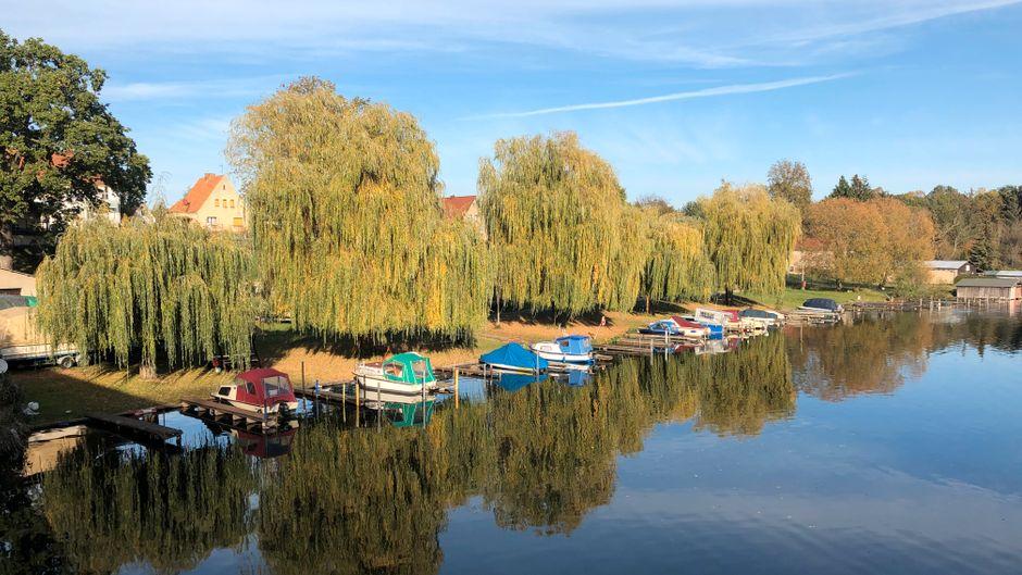 Boote auf dem Templiner Kanal.