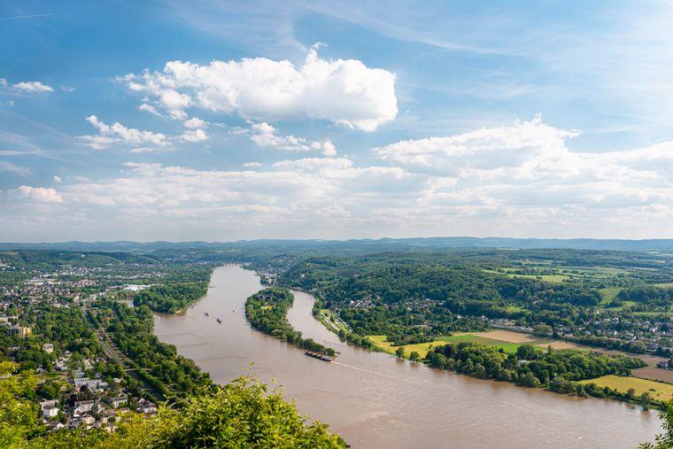 Das nordrhein-westfälische Königswinter am Rhein.
