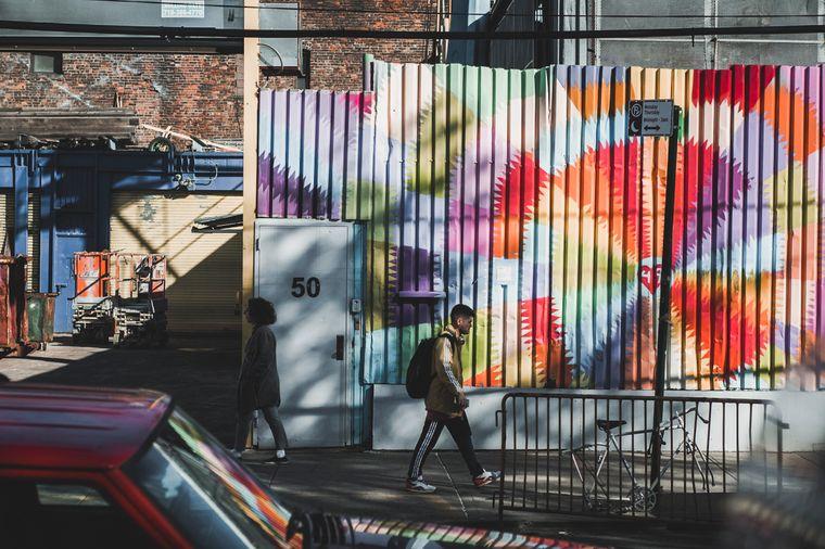 Graffiti in Brooklyn, New York.
