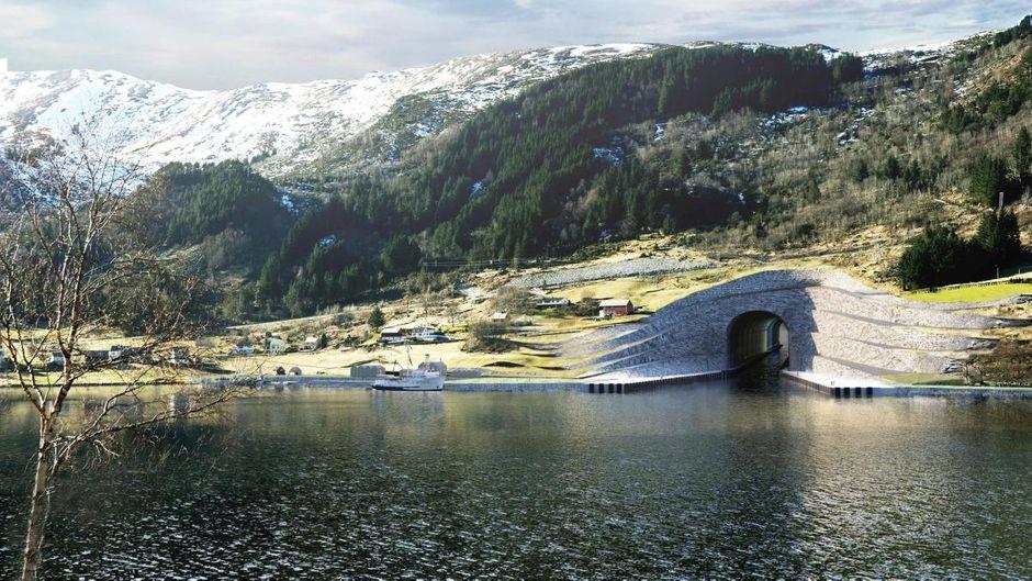 So könnte der Stad-Skipstunnel in Norwegen aussehen.