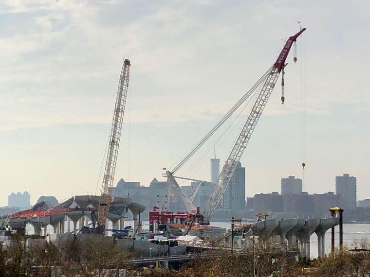"""Auf dem Hudson River in New York entsteht """"Little Island""""."""
