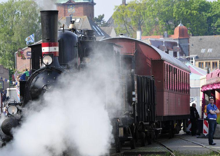 Lok der Angelner Museums-Dampfeisenbahn.