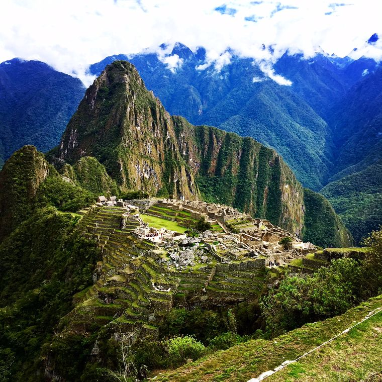 Die heilige Inka-Stadt Machu Picchu.