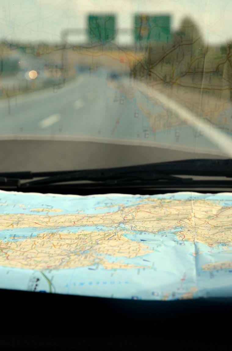 Ganz traditionell haben wir uns den Weg bis nach Skagen per Landkarte gesucht.
