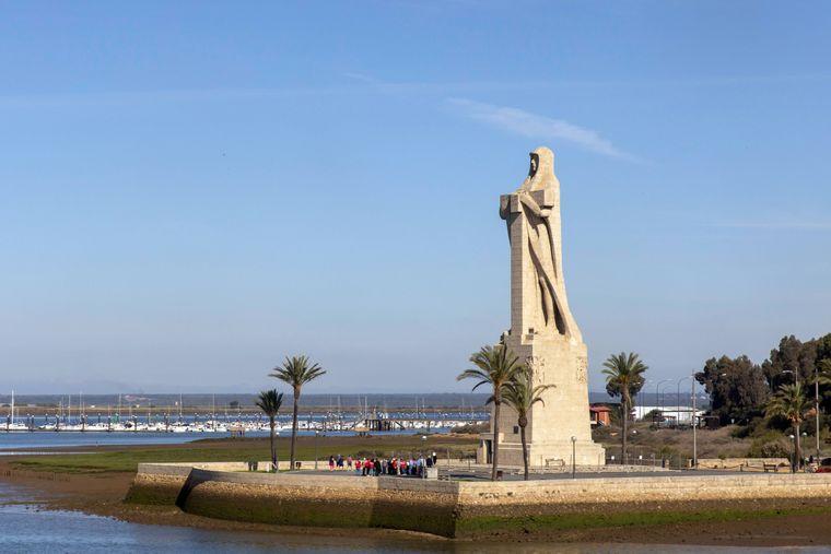 Statue von Christoph Kolumbus in Huelva.