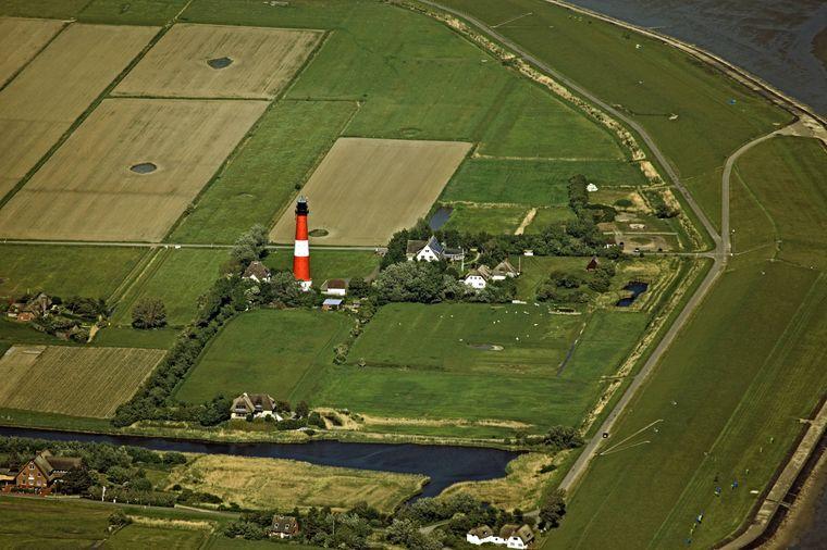Leuchtturm auf der Insel Pellworm – einem der dunkelsten Orte in Deutschland.