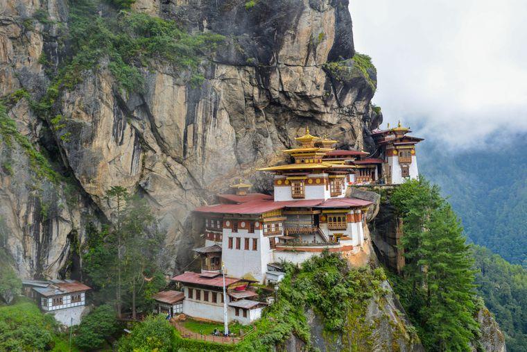 """Der """"Tigernest""""-Tempel in Bhutan."""