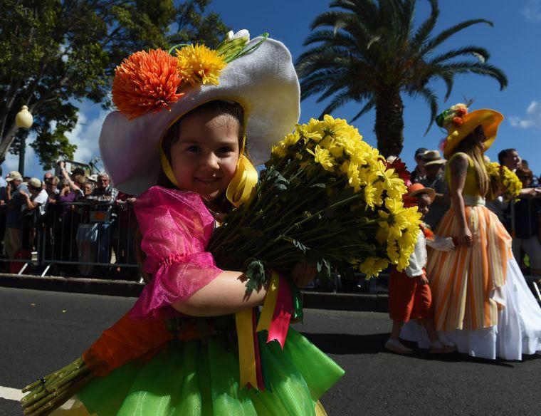 Blumenfest in Funchal auf Madeira