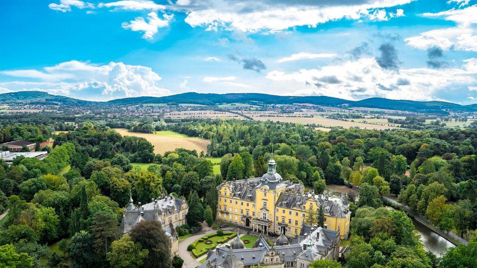 Das wunderschöne Schloss Bückeburg im Weserbergland.