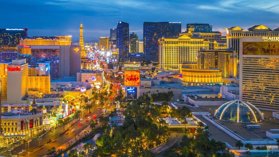 Blick auf The Strip in Las Vegas