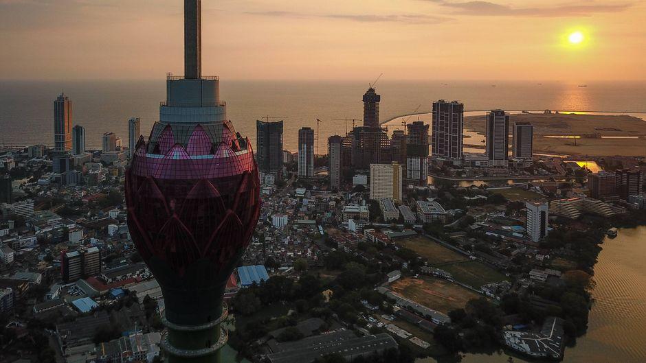 Die Skyline der Hauptstadt Colombo.
