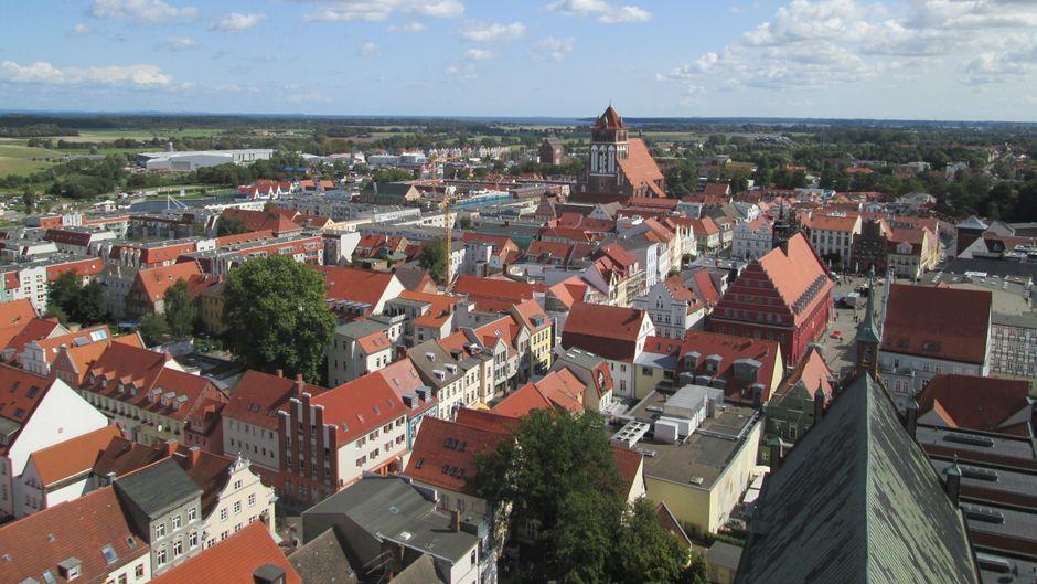 Was für ein Panorama! Greifswald ist einfach schön anzusehen.