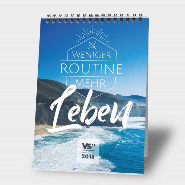 Urlaubsgefühle mitten im Winter: der Visual Statements Kalender für 2018.