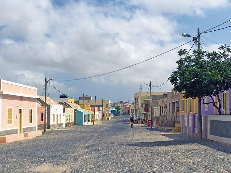 Leere Straßen auf den Kapverden.