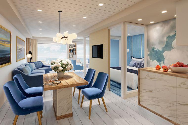 Mehr Platz hast du in einer der Suiten, die mit Sitz- und Sofaecke ausgestattet sind.