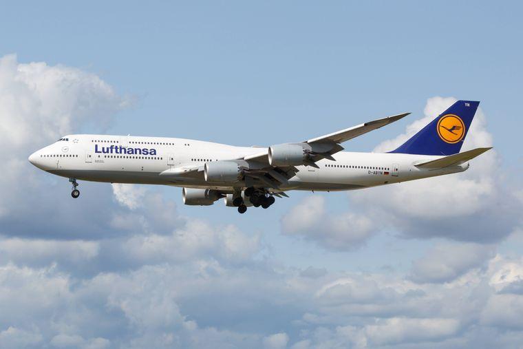 Flugzeug der Lufthansa: Bisher dominieren beim Design der Lufthansa die Farben Gelb und Blau.