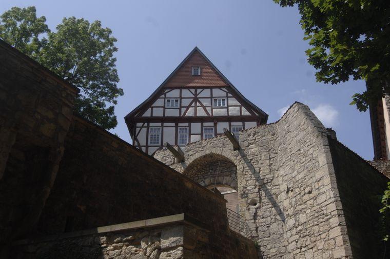 Ansicht der Burg Bodenstein in Thürigen nahe Worbis.