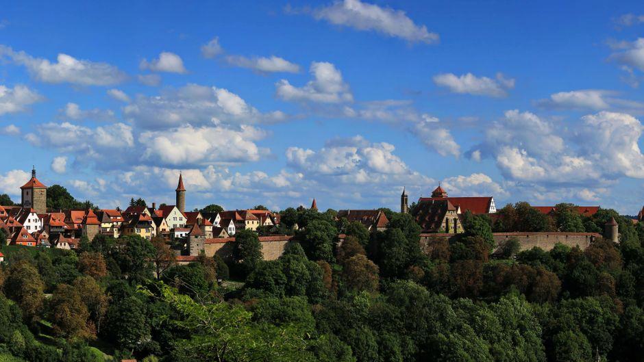 Rothenburg ob der Tauber ist eine der beliebtesten deutschen Kleinstädte auf Instagram.
