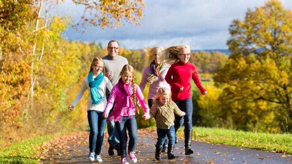 So schön kann der Herbst mit der Familie sein.