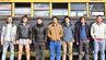 Sie wagen das große Abenteuer Panamericana: Mino (von links), Rombout, Samuel, Anton, Findan, John und Til aus Lübeck.