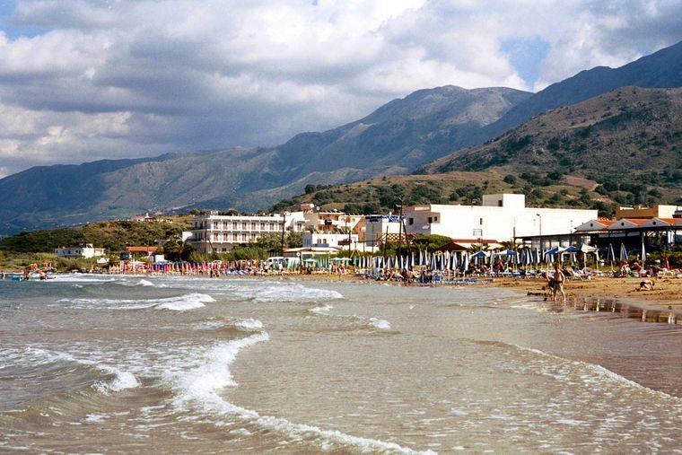 Den Strand von Georgioupolis auf Kreta musst du sehen.