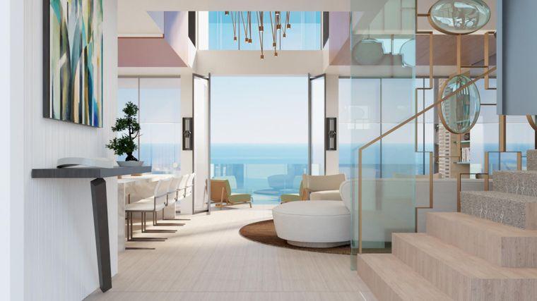 Wer es sich leisten kann, bekommt mehrere Balkone pro Appartement.
