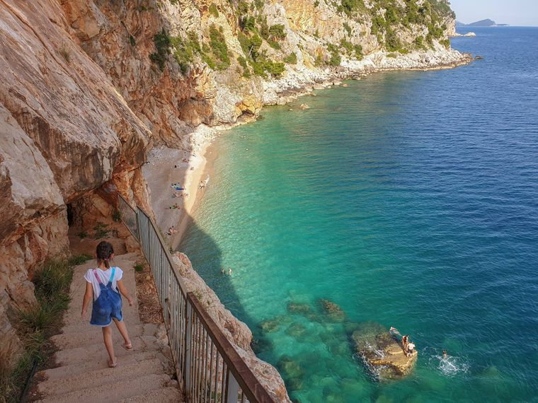 Der Pasjaca-Strand in Kroatien.