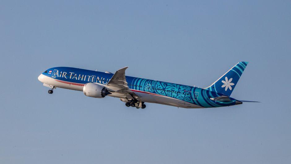 Rekord bei Air Tahiti Nui: Die Boeing flog die längste Strecke der Welt.