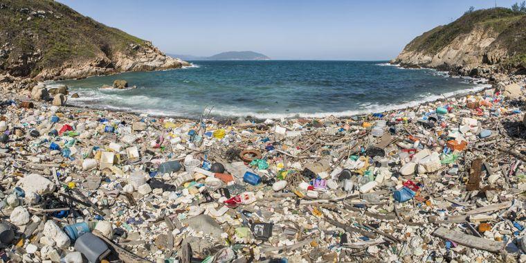 Plastikmüll in Lap San Wan in China