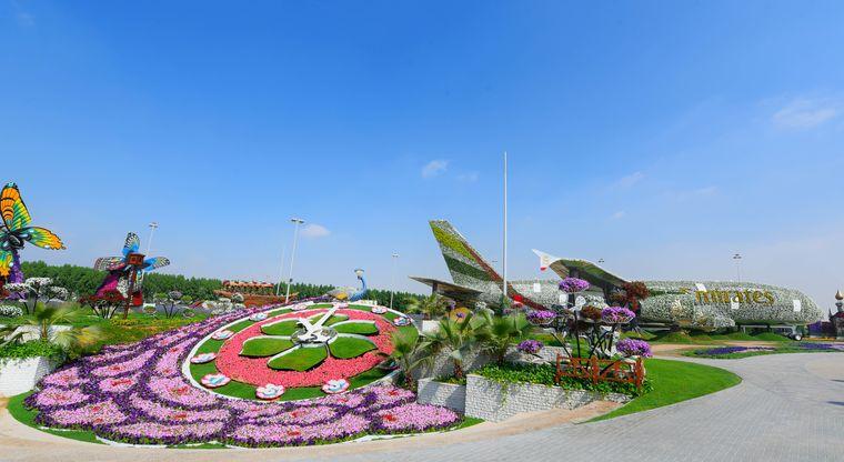 Der Dubai Miracle Garden ist in den Wintermonaten von November bis Mai geöffnet.