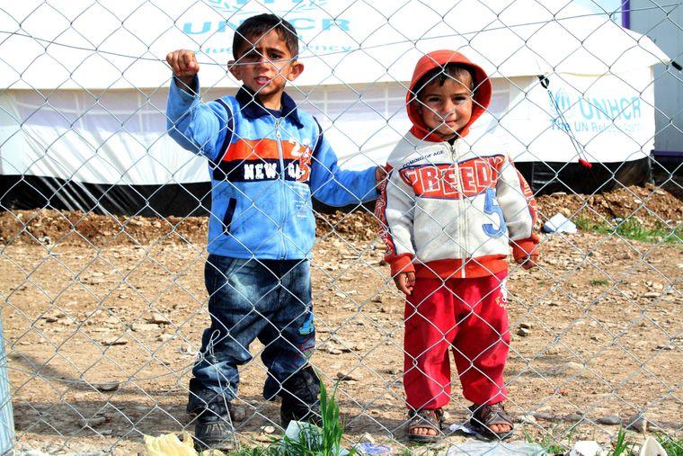 Geflüchtete syrische Kinder im Flüchtlingscamp im Nordirak.