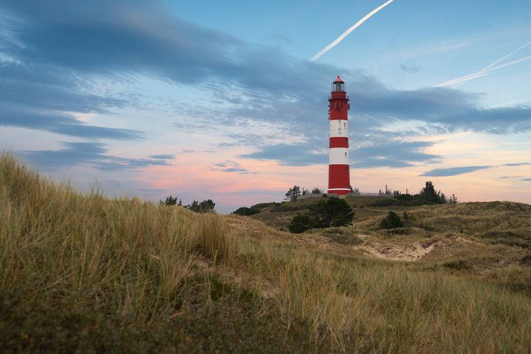 Der Leuchtturm von Amrum gilt als Wahrzeichen der schönen Insel.