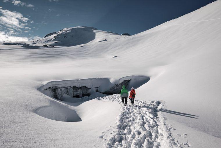 Die Eiskathedrale taucht jedes Jahr im Winter auf.