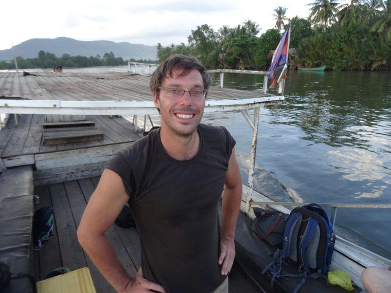 Der deutsche Auswanderer Björn Seewald bietet Touren auf dem Teuk Chhou an.