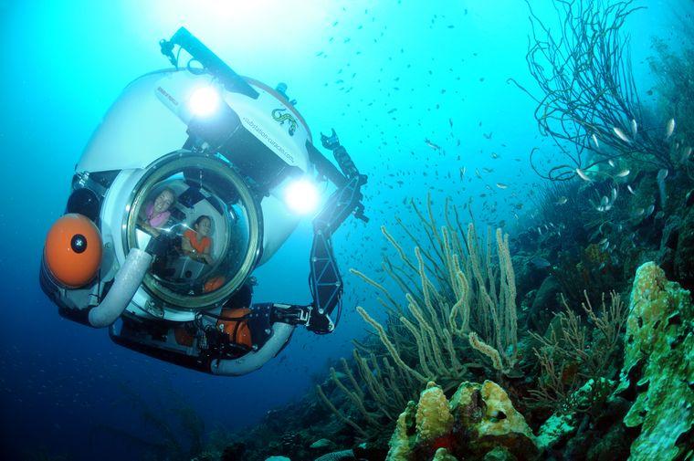 In Curaçao hast du die Chance, mit dem weltweit einzigartigen Mini-U-Boot Curasub die vielfältige Unterwasserwelt zu erkunden.