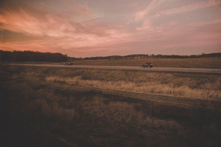 Hach... Der Sonnenuntergang irgendwo auf der Zugstrecke in den USA.