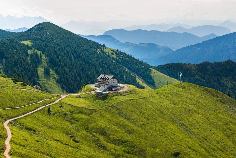 Das Rotwandhaus in den Schlierseer Bergen.