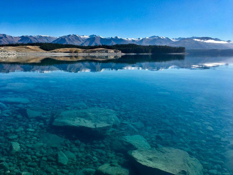 Lake Pukaki in Neuseeland.