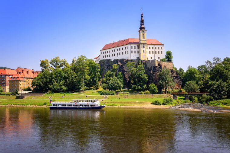 Schloss Děčín an der Elbe, Tschechien