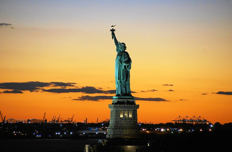 Liberty Island: Blick auf die Freiheitsstatue