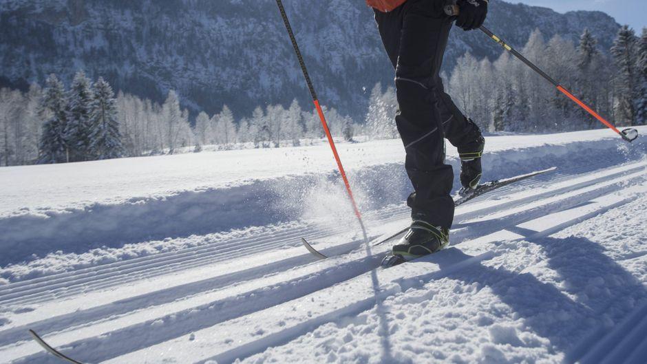 Die Landschaft ist in Weiß getaucht: Deutsche Gebirge bieten Hunderte Kilometer an Skilanglaufloipen.