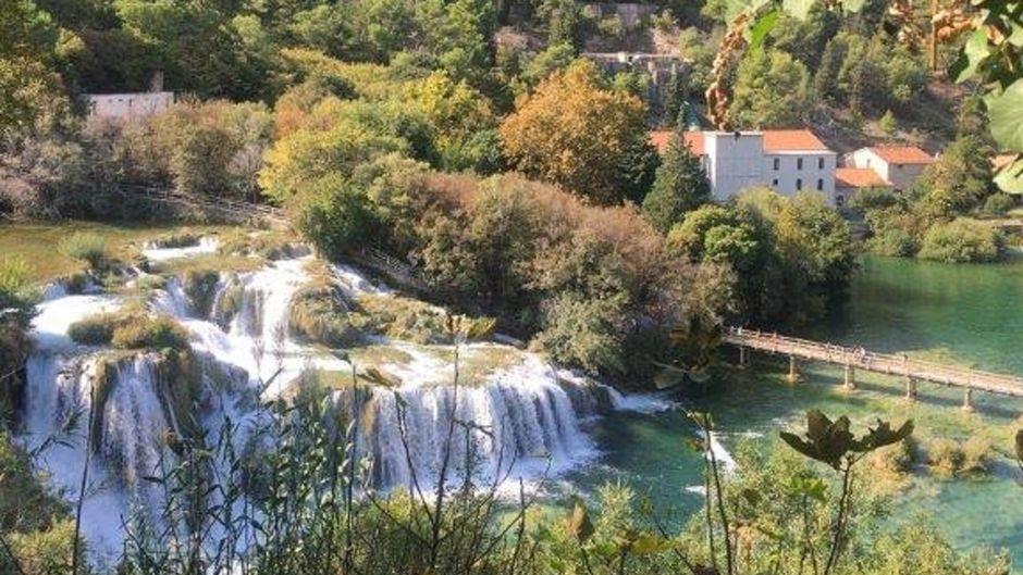 Wasserfälle im Krka-Nationalpark in Kroatien.