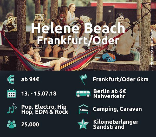 Das Helene Beach liegt an einem der schönsten Badeseen Deutschlands.