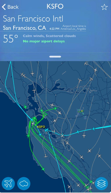 Mit der Flightaware-App hast du deinen Flug immer im Blick.