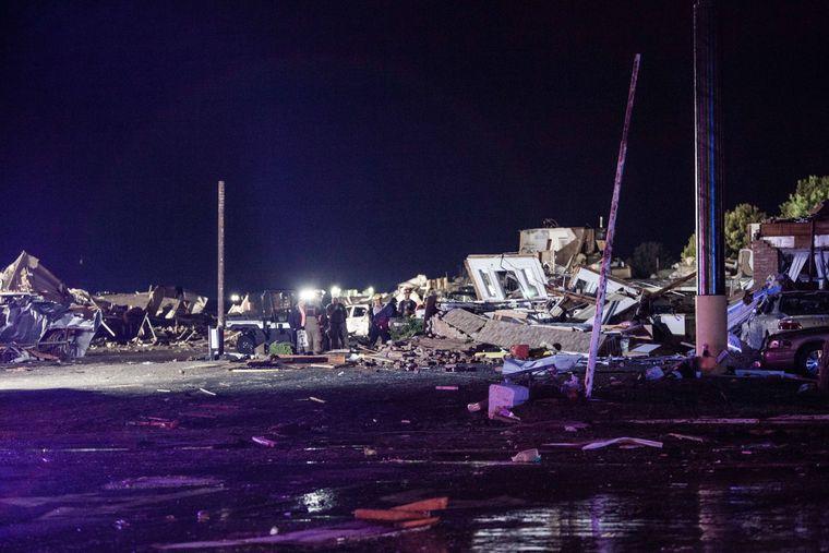 Der Tornado traf die Gemeinde El Reno am späten Samstagabend. (Ortszeit)