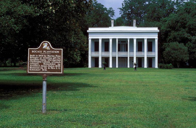 Bocage Plantage in Louisiana